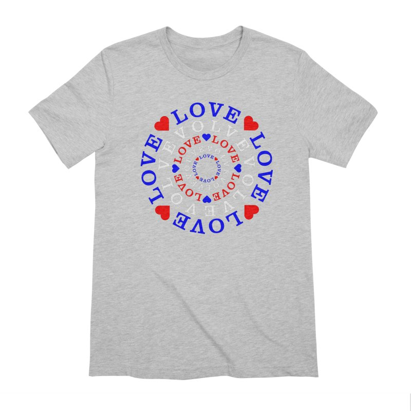 Evolve Love Men's Extra Soft T-Shirt by Tee Panic T-Shirt Shop by Muzehack