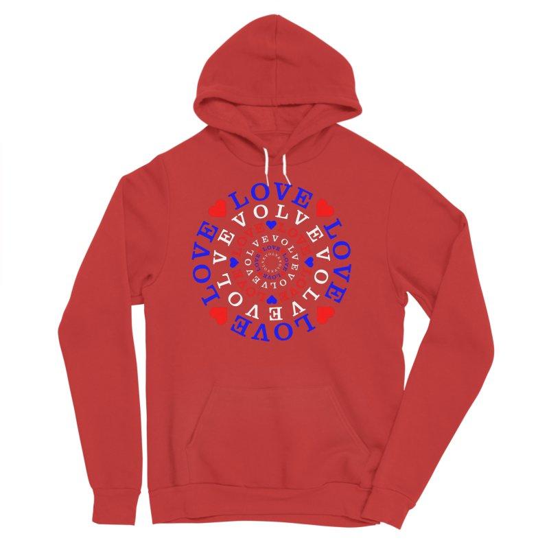 Evolve Love Women's Sponge Fleece Pullover Hoody by Tee Panic T-Shirt Shop by Muzehack