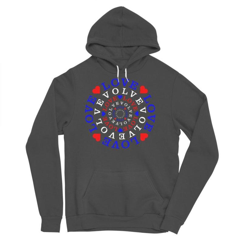 Evolve Love Men's Sponge Fleece Pullover Hoody by Tee Panic T-Shirt Shop by Muzehack