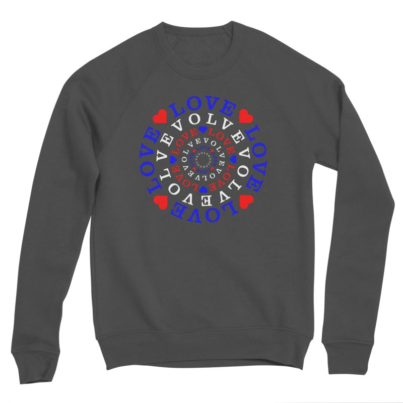 Evolve Love Men's Sponge Fleece Sweatshirt by Tee Panic T-Shirt Shop by Muzehack