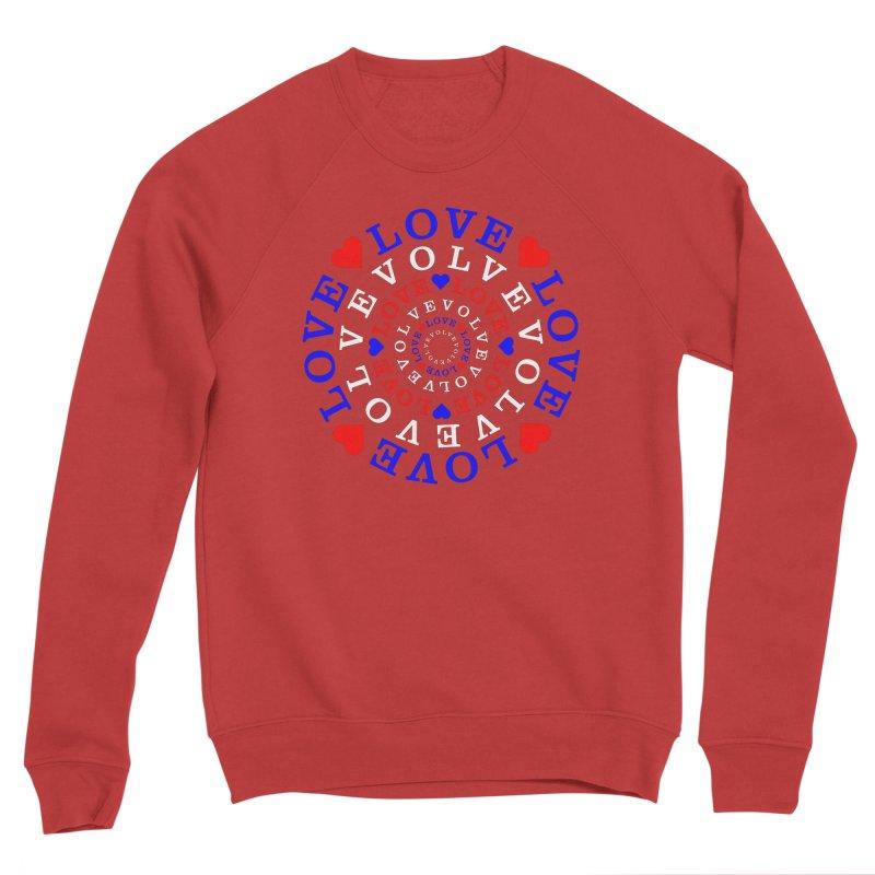 Evolve Love Men's Sponge Fleece Sweatshirt by Tee Panic T-Shirt Shop by Muzehack