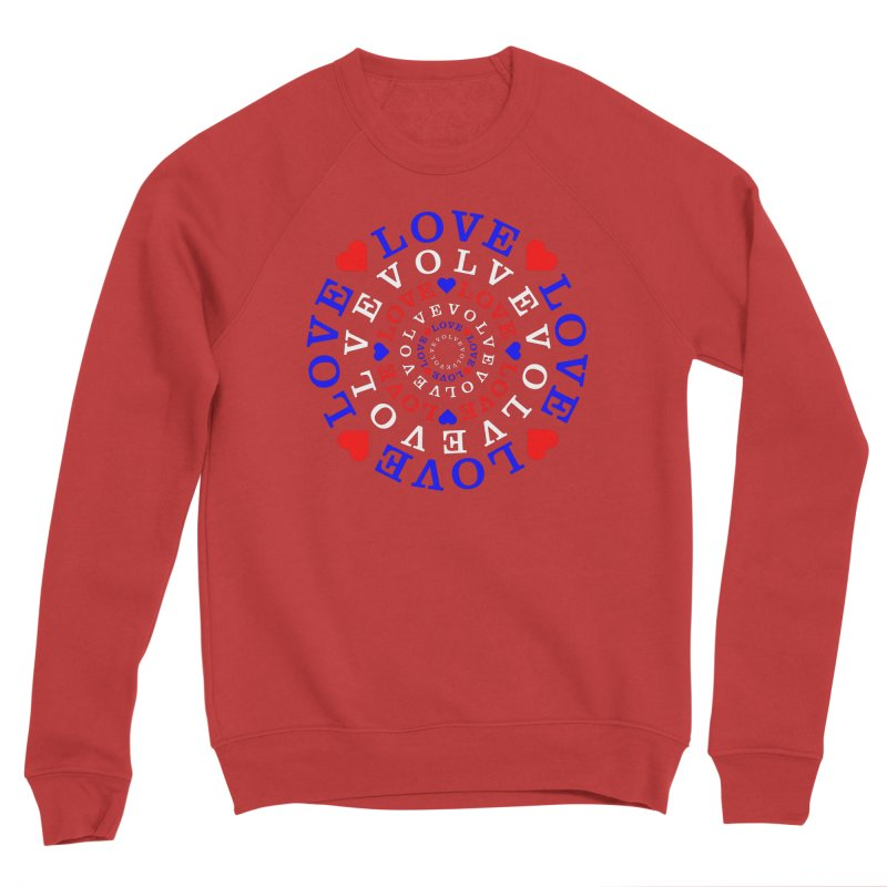 Evolve Love Women's Sponge Fleece Sweatshirt by Tee Panic T-Shirt Shop by Muzehack