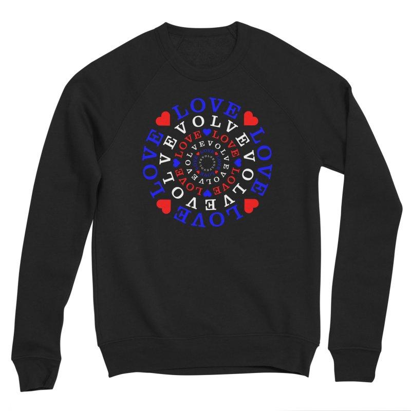 Evolve Love Women's Sponge Fleece Sweatshirt by Tee Panic T-Shirt Shop by Muzehack