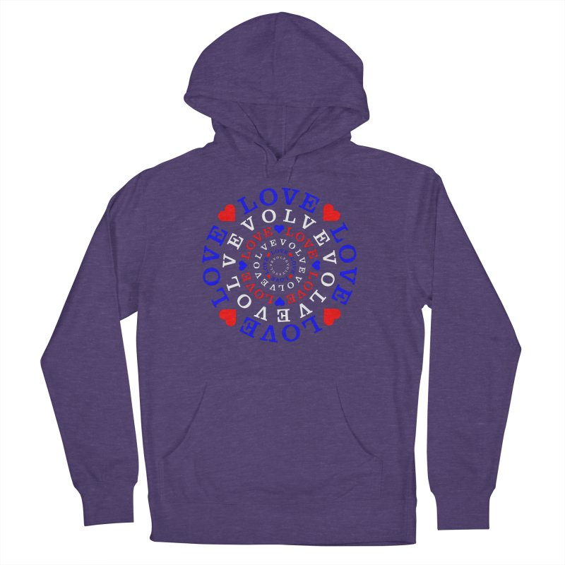 Evolve Love Women's French Terry Pullover Hoody by Tee Panic T-Shirt Shop by Muzehack