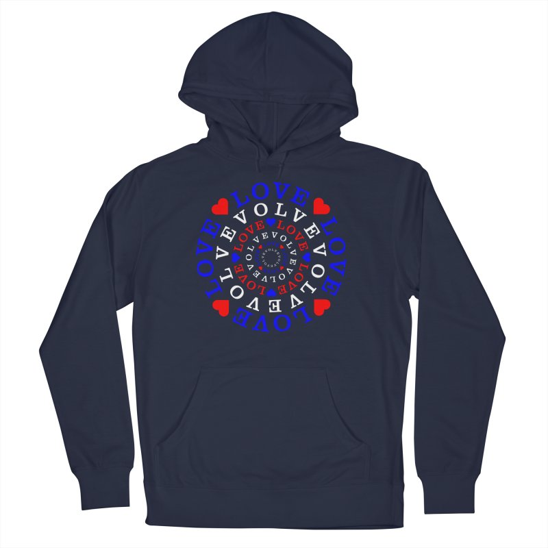 Evolve Love Men's French Terry Pullover Hoody by Tee Panic T-Shirt Shop by Muzehack