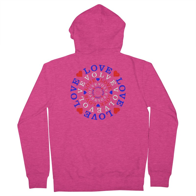Evolve Love Women's French Terry Zip-Up Hoody by Tee Panic T-Shirt Shop by Muzehack