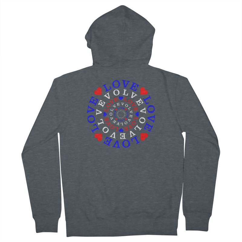 Evolve Love Men's French Terry Zip-Up Hoody by Tee Panic T-Shirt Shop by Muzehack