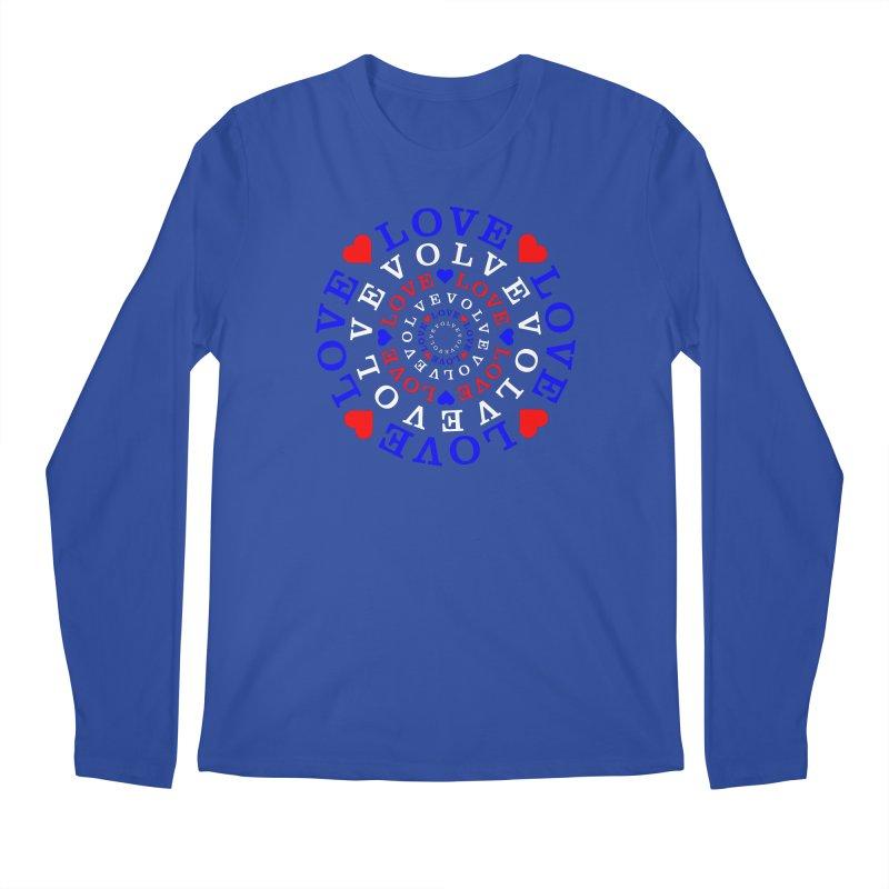 Evolve Love Men's Regular Longsleeve T-Shirt by Tee Panic T-Shirt Shop by Muzehack