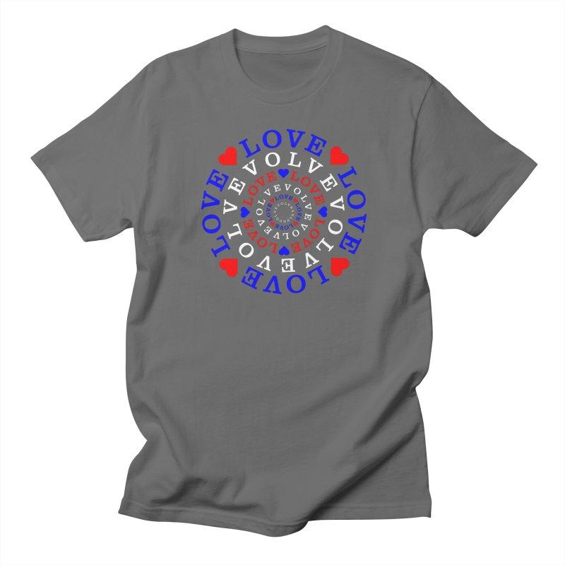 Evolve Love Women's Regular Unisex T-Shirt by Tee Panic T-Shirt Shop by Muzehack