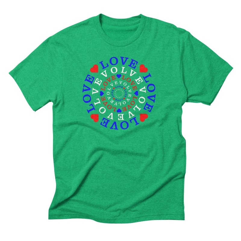 Evolve Love Men's Triblend T-Shirt by Tee Panic T-Shirt Shop by Muzehack