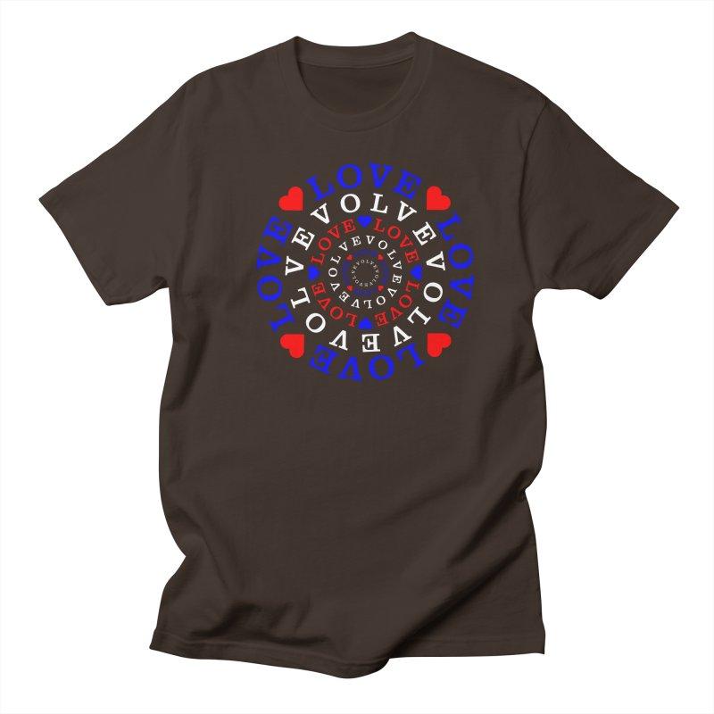 Evolve Love Men's Regular T-Shirt by Tee Panic T-Shirt Shop by Muzehack
