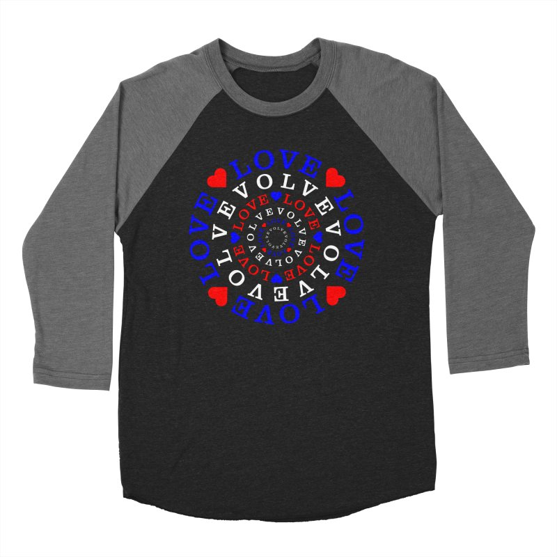 Evolve Love Men's Baseball Triblend Longsleeve T-Shirt by Tee Panic T-Shirt Shop by Muzehack