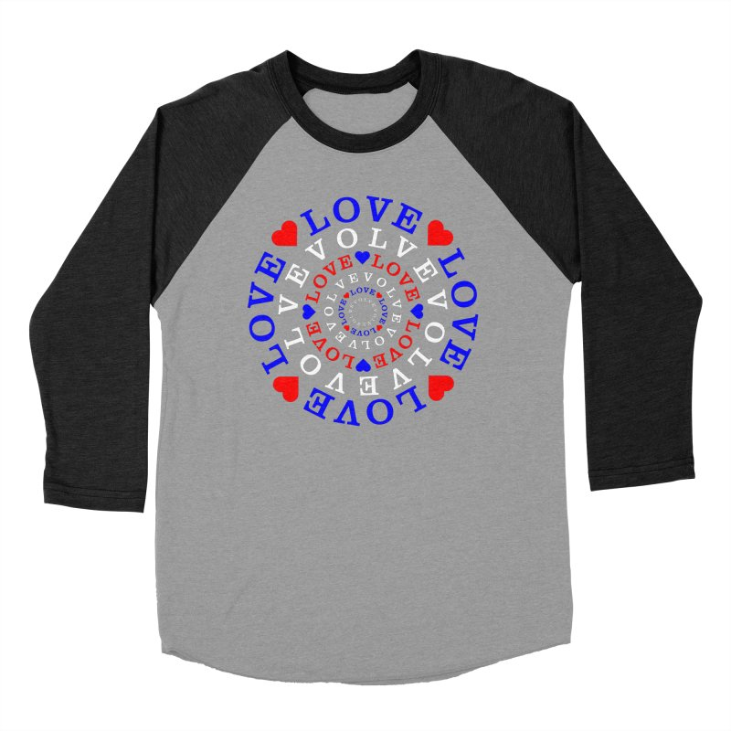 Evolve Love Men's Baseball Triblend Longsleeve T-Shirt by Tee Panic T-Shirt Shop by Muzehack