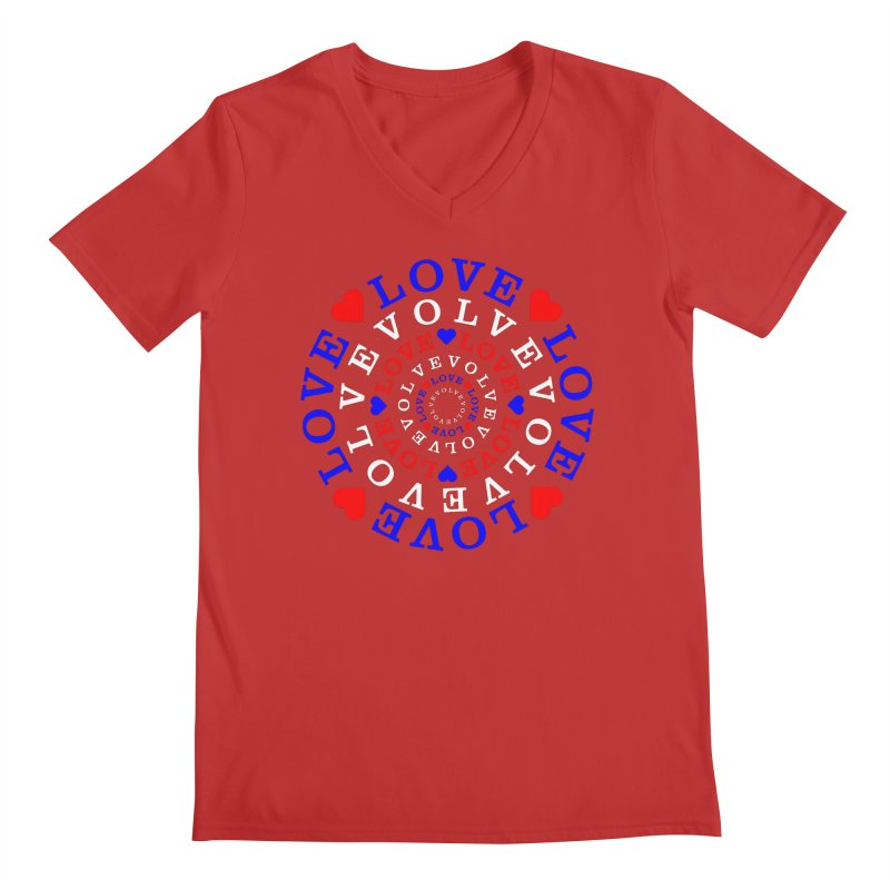 Evolve Love Men's Regular V-Neck by Tee Panic T-Shirt Shop by Muzehack