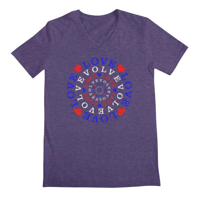 Evolve Love Men's Regular V-Neck by Tee Panic T-Shirt Shop by Muzehack