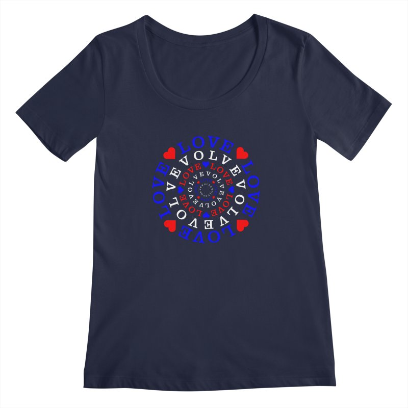 Evolve Love Women's Regular Scoop Neck by Tee Panic T-Shirt Shop by Muzehack