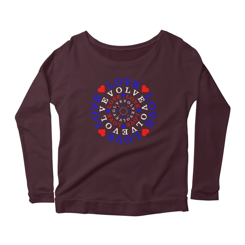 Evolve Love Women's Scoop Neck Longsleeve T-Shirt by Tee Panic T-Shirt Shop by Muzehack