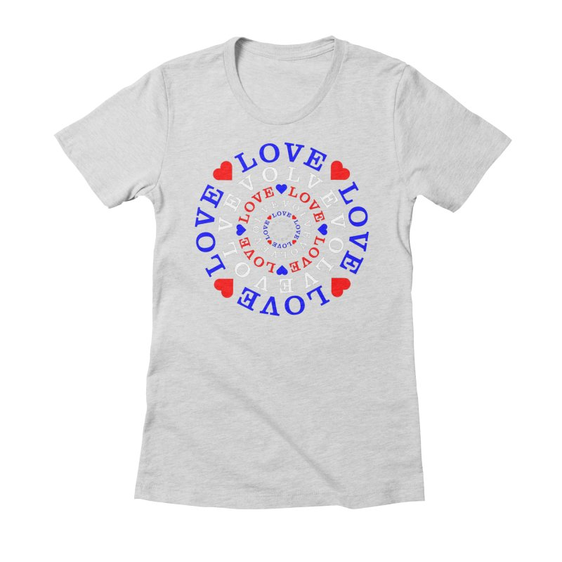 Evolve Love Women's Fitted T-Shirt by Tee Panic T-Shirt Shop by Muzehack