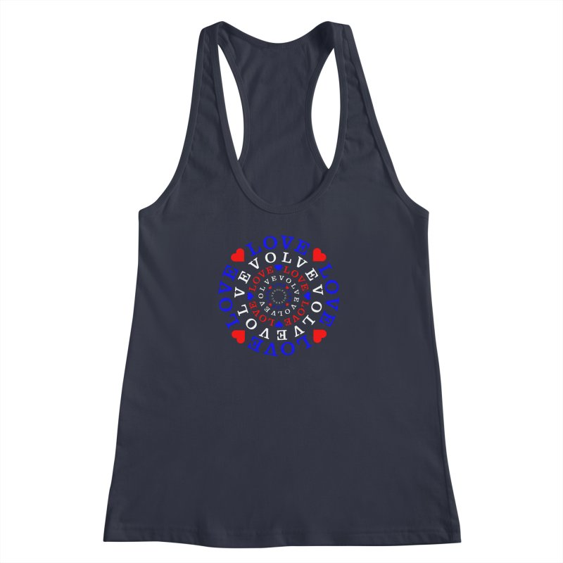 Evolve Love Women's Racerback Tank by Tee Panic T-Shirt Shop by Muzehack