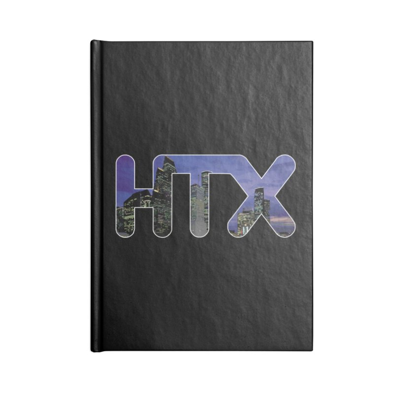 Houston HTX Accessories Notebook by Tee Panic T-Shirt Shop by Muzehack