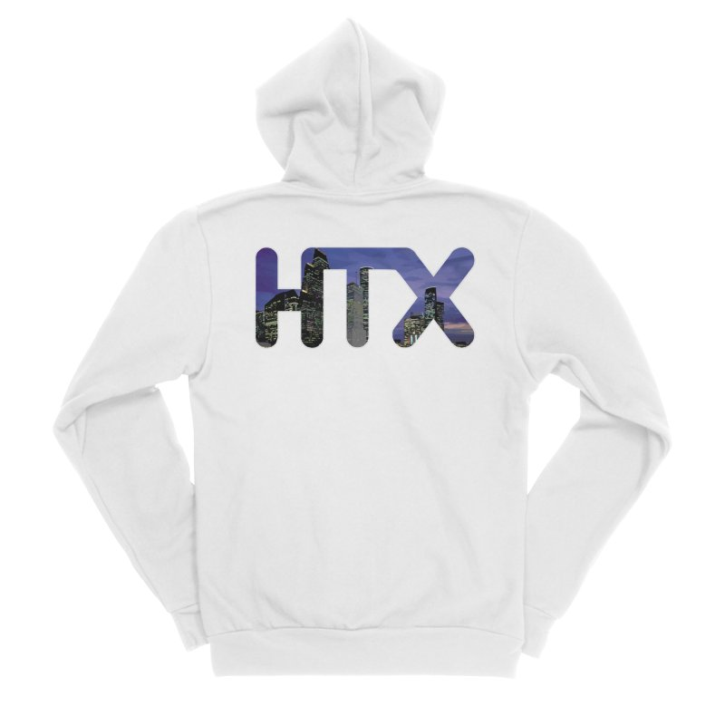 Houston HTX Women's Sponge Fleece Zip-Up Hoody by Tee Panic T-Shirt Shop by Muzehack