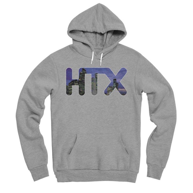 Houston HTX Women's Sponge Fleece Pullover Hoody by Tee Panic T-Shirt Shop by Muzehack