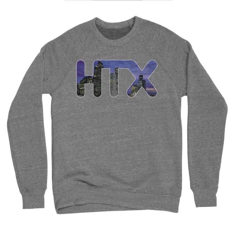 Houston HTX Men's Sponge Fleece Sweatshirt by Tee Panic T-Shirt Shop by Muzehack