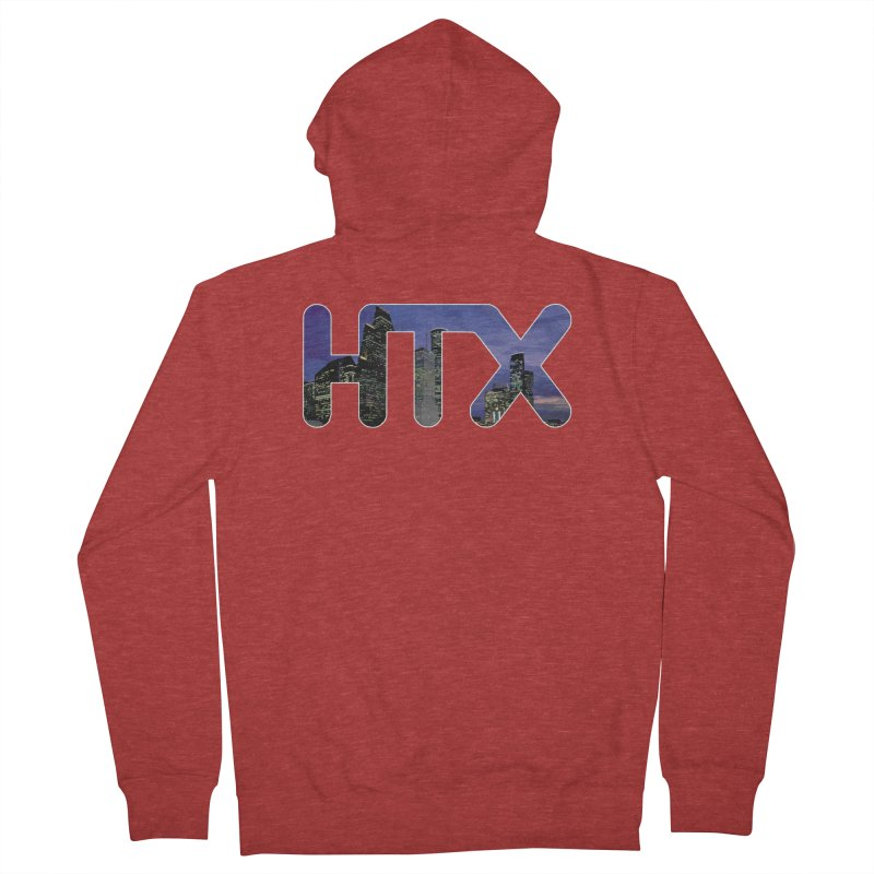 Houston HTX Men's French Terry Zip-Up Hoody by Tee Panic T-Shirt Shop by Muzehack