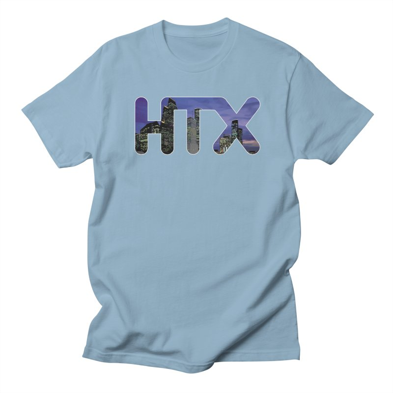 Houston HTX Women's Regular Unisex T-Shirt by Tee Panic T-Shirt Shop by Muzehack