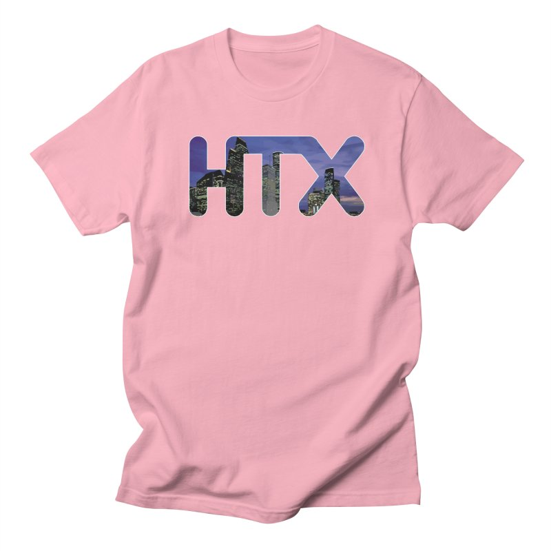 Houston HTX Men's Regular T-Shirt by Tee Panic T-Shirt Shop by Muzehack