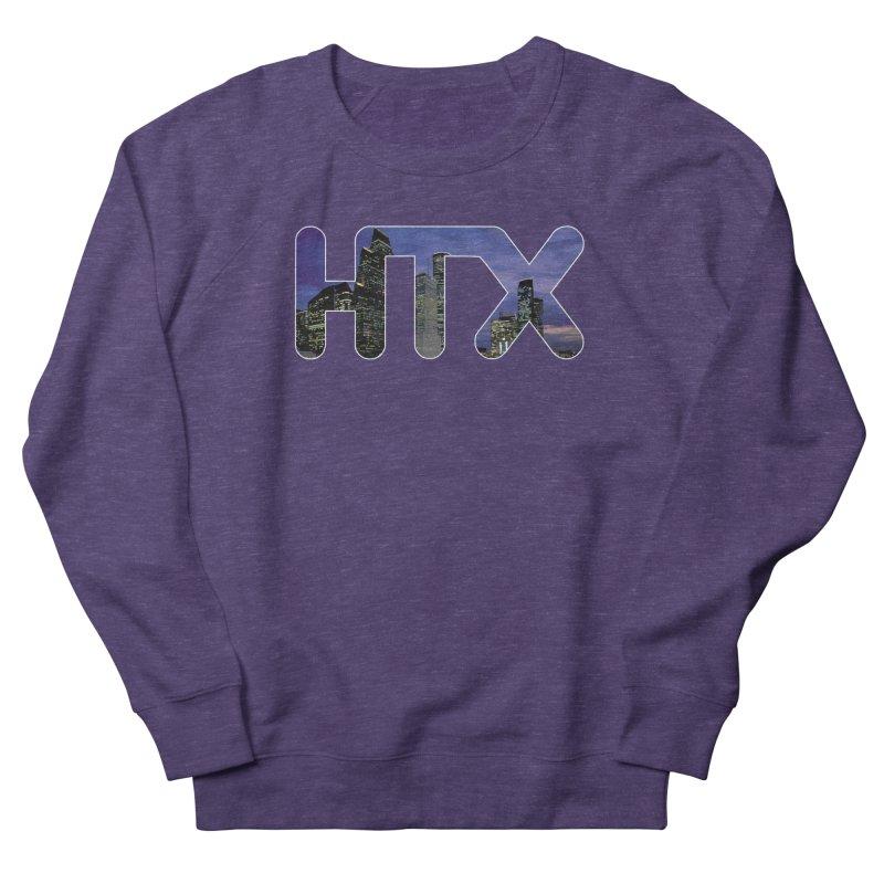 Houston HTX Women's French Terry Sweatshirt by Tee Panic T-Shirt Shop by Muzehack