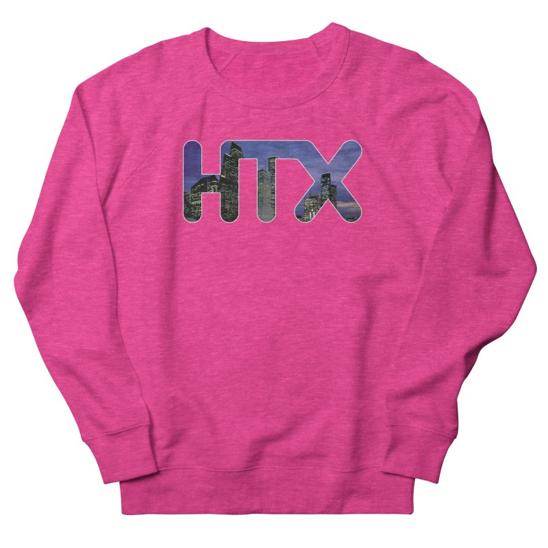 Houston HTX Men's French Terry Sweatshirt by Tee Panic T-Shirt Shop by Muzehack