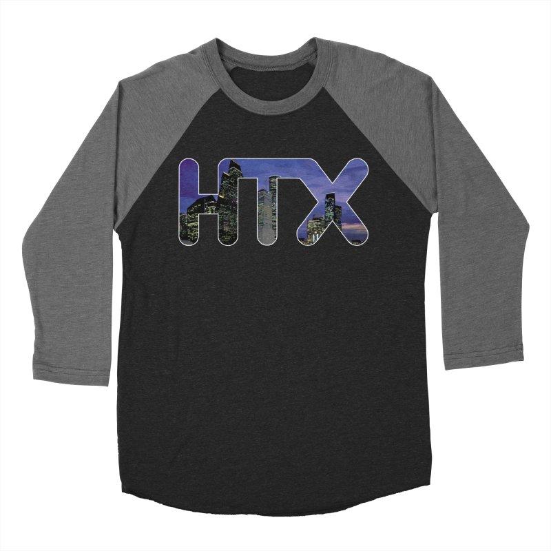 Houston HTX Men's Baseball Triblend Longsleeve T-Shirt by Tee Panic T-Shirt Shop by Muzehack
