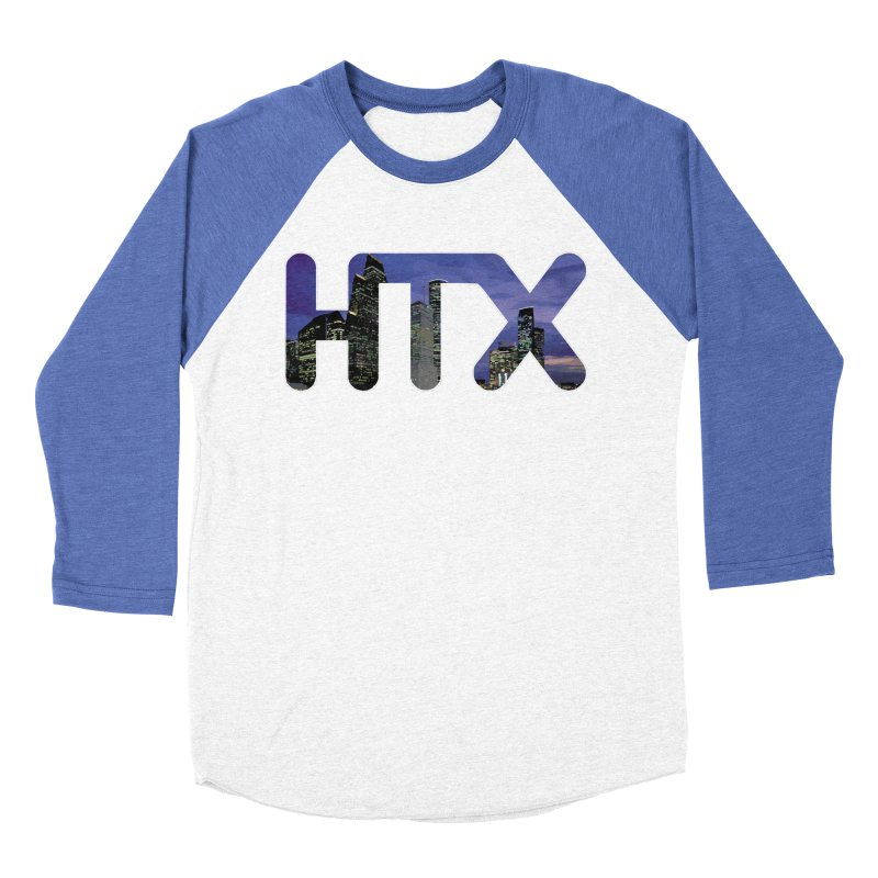 Houston HTX Men's Baseball Triblend Longsleeve T-Shirt by Tee Panic T-Shirt Shop by Muzehack