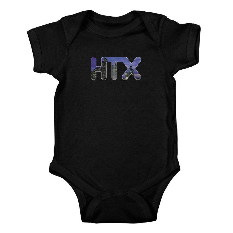 Houston HTX Kids Baby Bodysuit by Tee Panic T-Shirt Shop by Muzehack