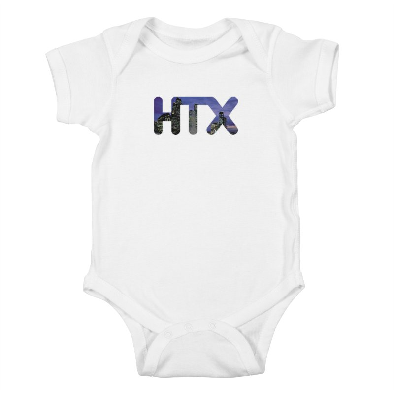 Houston HTX Kids Baby Bodysuit by Tee Panic T-Shirt Shop by Muzehack