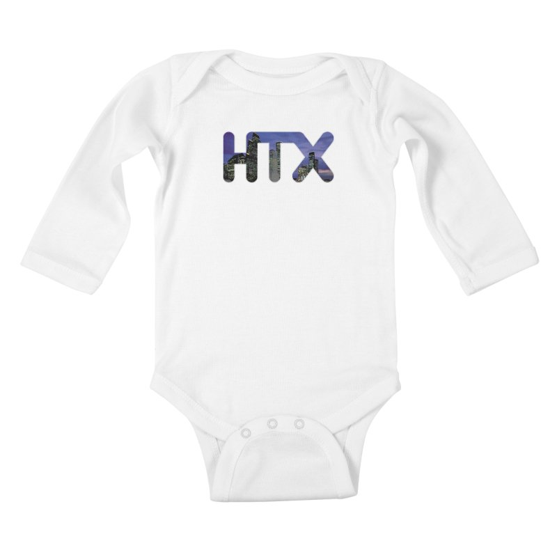 Houston HTX Kids Baby Longsleeve Bodysuit by Tee Panic T-Shirt Shop by Muzehack
