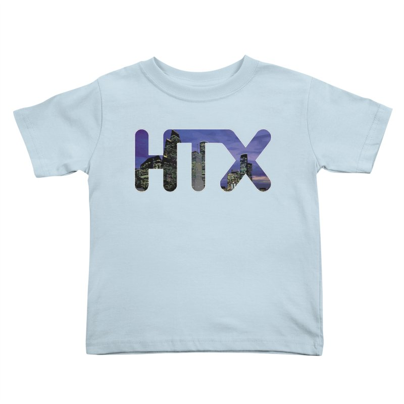 Houston HTX Kids Toddler T-Shirt by Tee Panic T-Shirt Shop by Muzehack