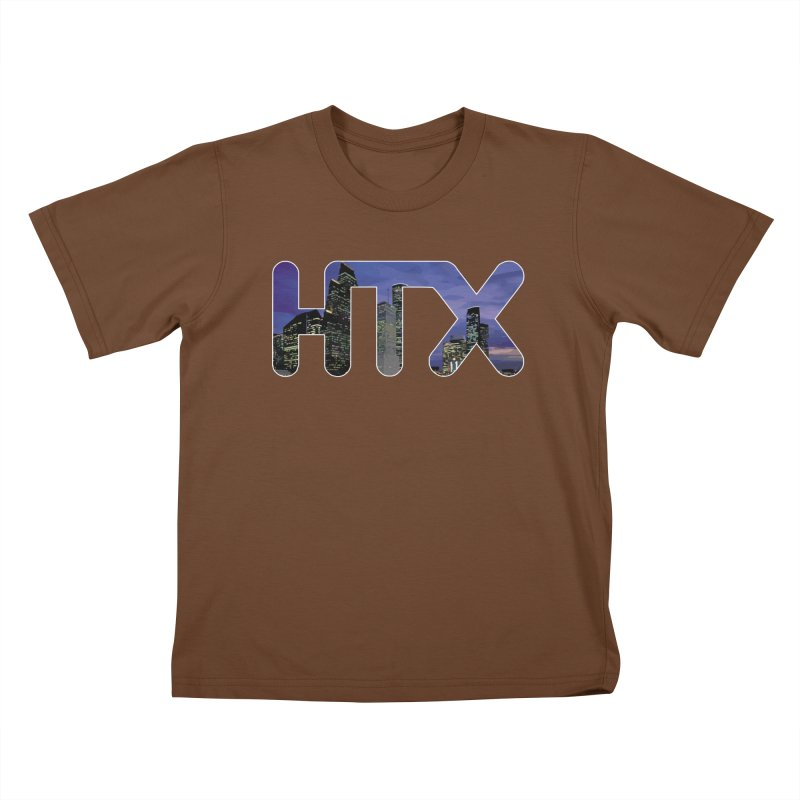 Houston HTX Kids T-Shirt by Tee Panic T-Shirt Shop by Muzehack