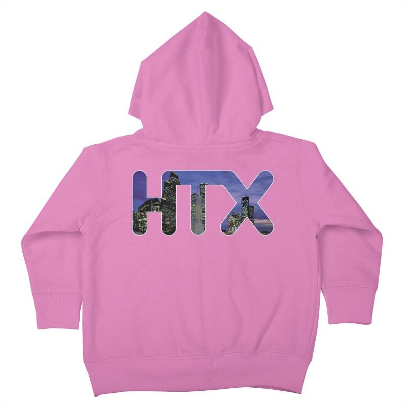 Houston HTX Kids Toddler Zip-Up Hoody by Tee Panic T-Shirt Shop by Muzehack