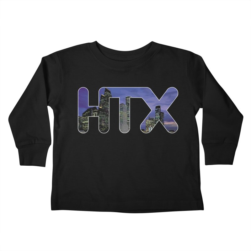 Houston HTX Kids Toddler Longsleeve T-Shirt by Tee Panic T-Shirt Shop by Muzehack