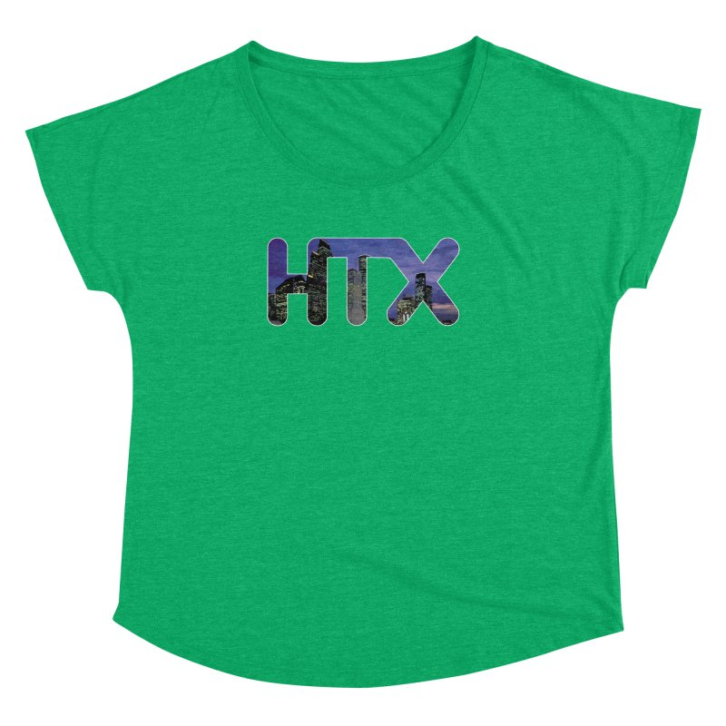 Houston HTX Women's Dolman Scoop Neck by Tee Panic T-Shirt Shop by Muzehack
