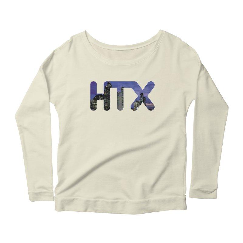 Houston HTX Women's Scoop Neck Longsleeve T-Shirt by Tee Panic T-Shirt Shop by Muzehack