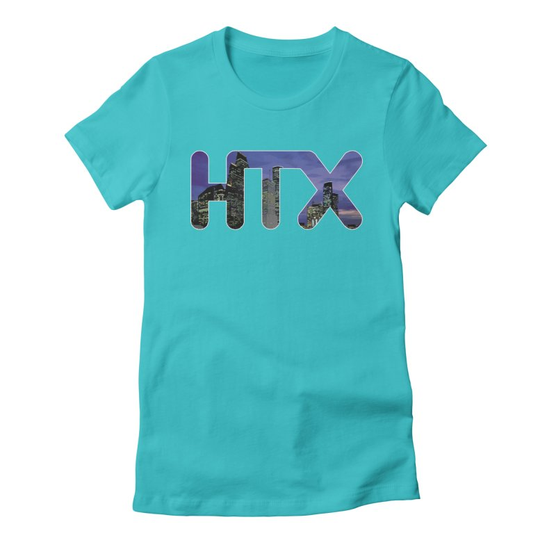 Houston HTX Women's Fitted T-Shirt by Tee Panic T-Shirt Shop by Muzehack