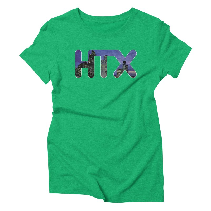 Houston HTX Women's Triblend T-Shirt by Tee Panic T-Shirt Shop by Muzehack