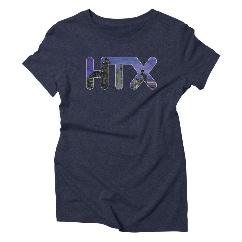 Houston HTX Women's Triblend T-Shirt by Tee Panic T-Shirt Shop by Muzehack