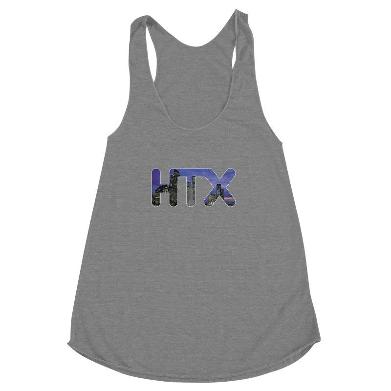 Houston HTX Women's Racerback Triblend Tank by Tee Panic T-Shirt Shop by Muzehack
