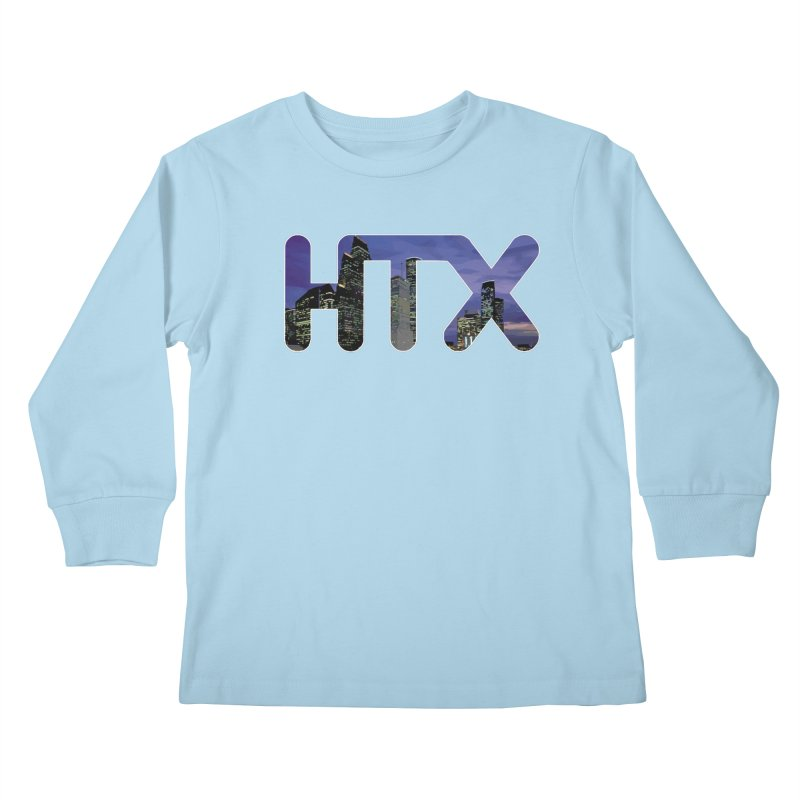 Houston HTX Kids Longsleeve T-Shirt by Tee Panic T-Shirt Shop by Muzehack