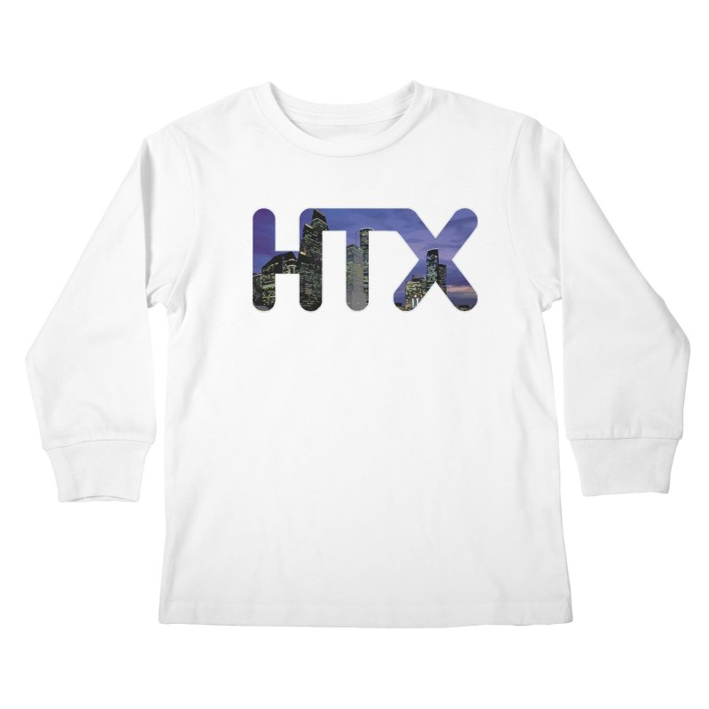 Houston HTX Kids Longsleeve T-Shirt by Tee Panic T-Shirt Shop by Muzehack