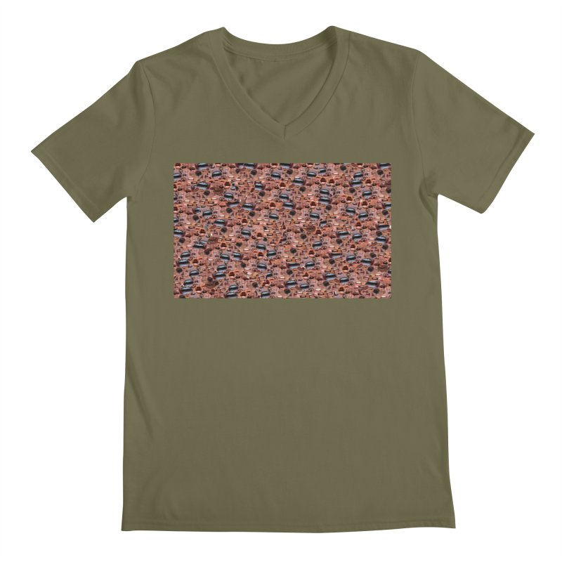 Trump Mouth Men's Regular V-Neck by Tee Panic T-Shirt Shop by Muzehack
